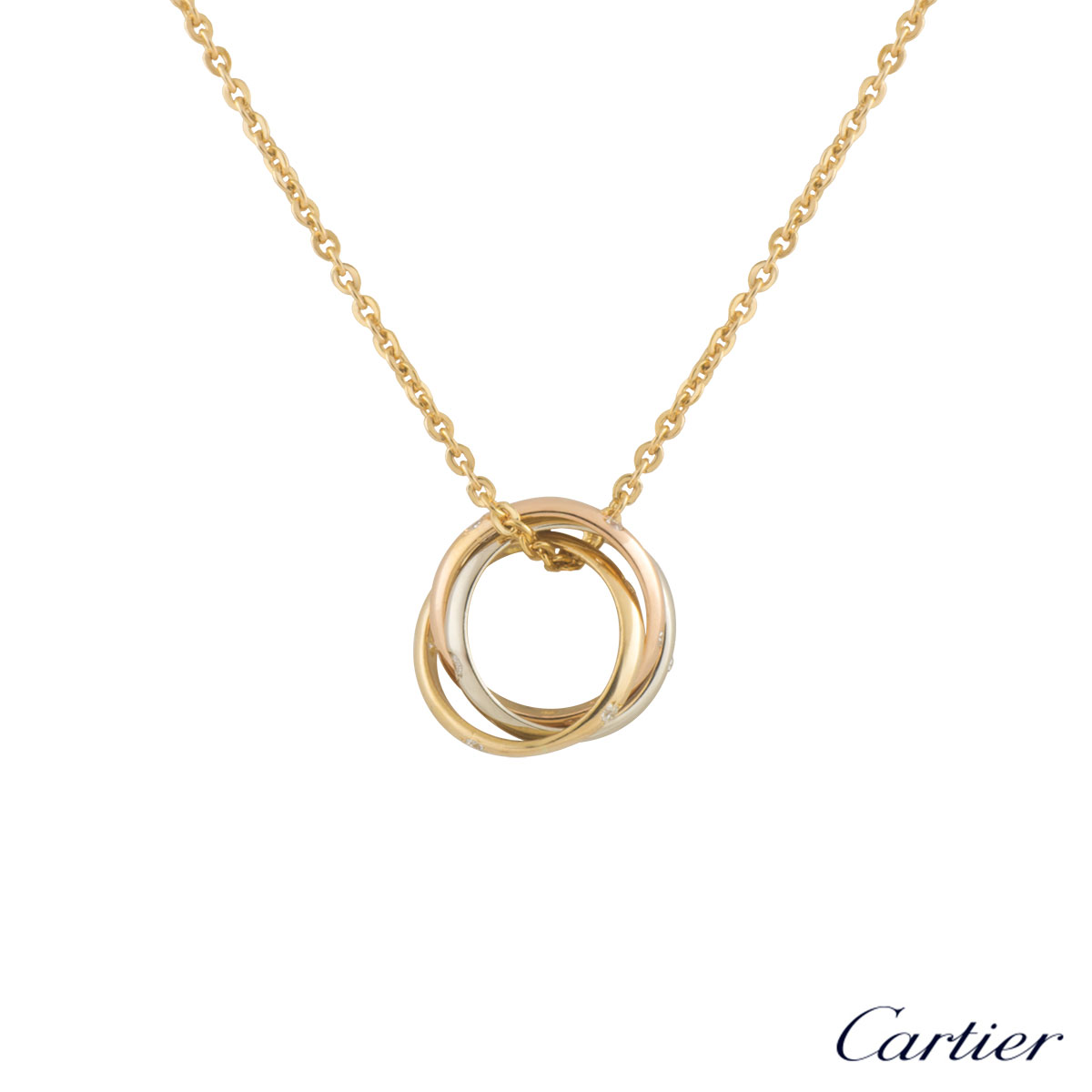 Trinity de Cartier Tri-Colour Diamond Pendant